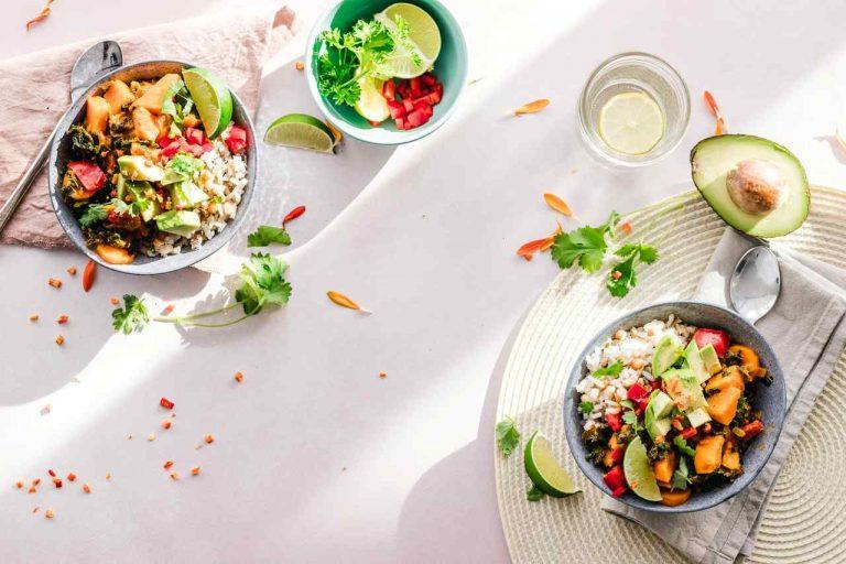 food salad on table