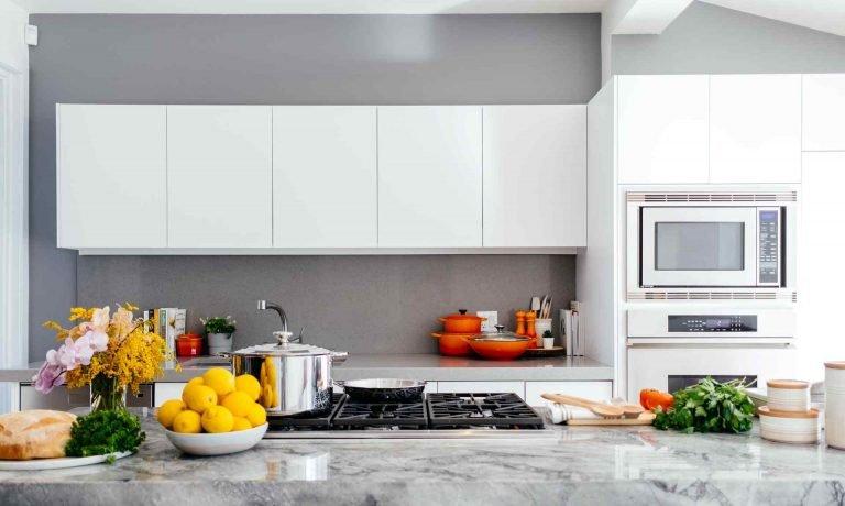bright kitchen with kitchen tools