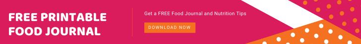 printable food journal ad