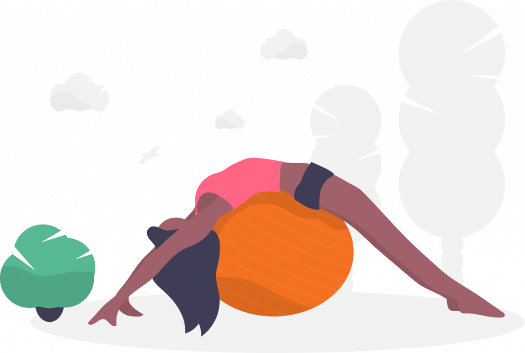 woman on stability ball fitness