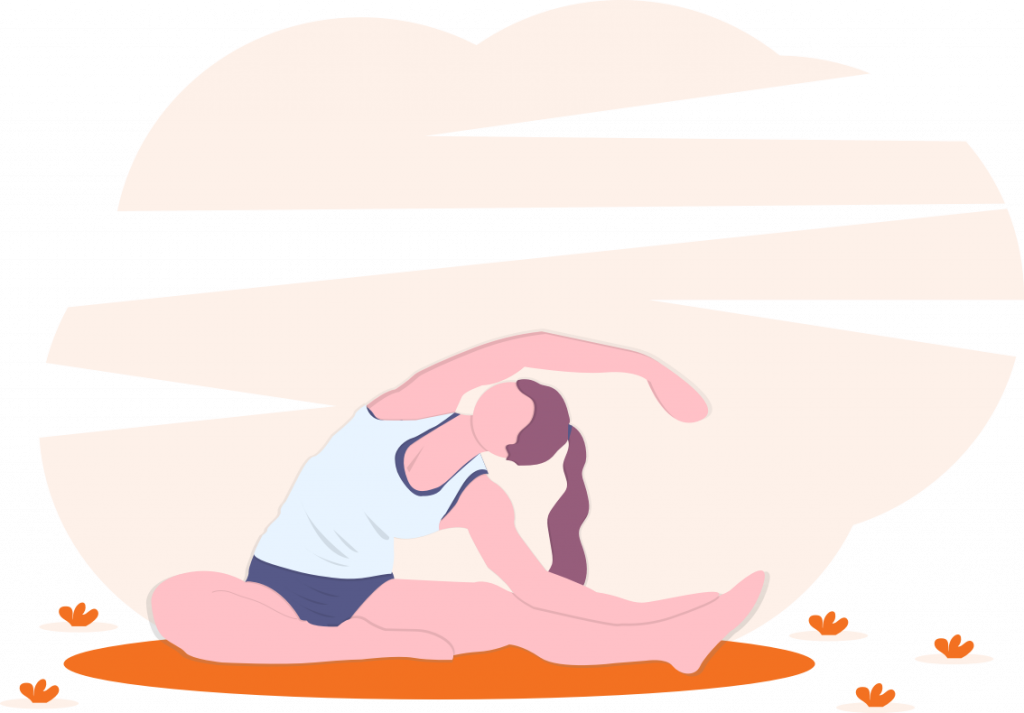 woman doing pilates illustration